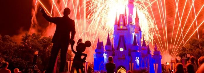 Mickey e Walt Disney no show Wishes