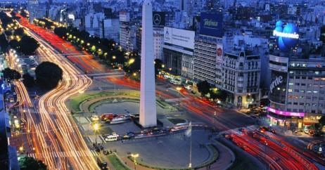 Obelisco à noite em Buenos Aires