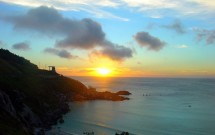 Pôr-do-sol visto da Praia Grande