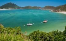 Mar deslumbrante de Arraial do Cabo