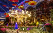 A beleza do jardim sazonal do Bellagio