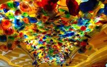 O teto de flores de vidro