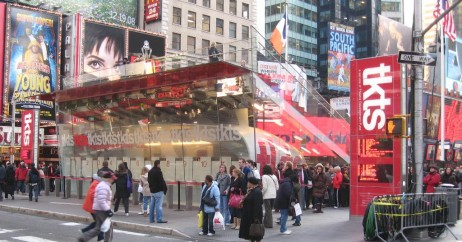 Cabines do TKTS na Times Square