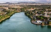 Vista aérea da Lagoa da Pampulha