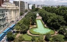 Vista aérea da Praça da Liberdade em Belo Horizonte