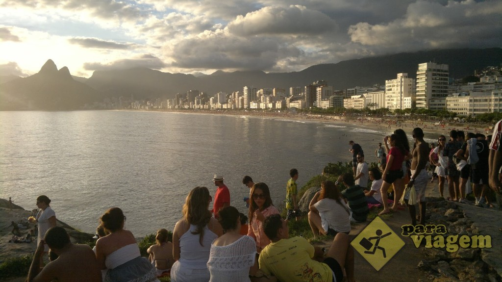 Pôr-do-sol no Arpoador - Praia de Ipanema