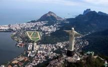 Vista aérea: Cristo, Gávea, Ipanema, Leblon e São Conrado