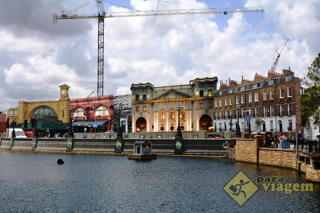 Concepção da área de Londres: expansão do Harry Potter