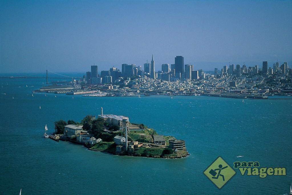 Ilha de Alcatraz na Baia da San Francisco