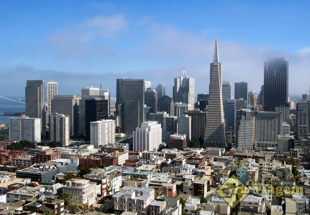 San Francisco vista da Coit Towers