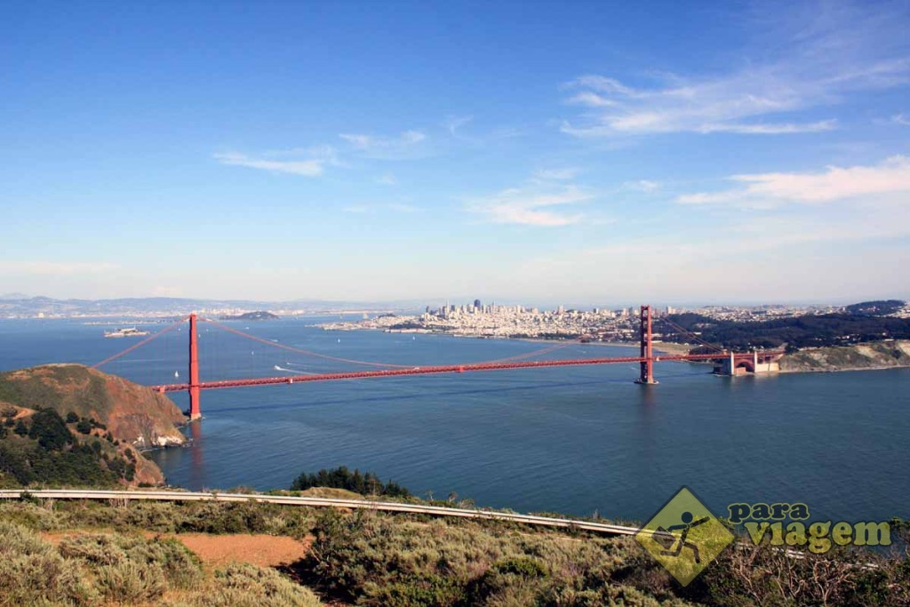 Vista de San Francisco em Hawk Hill