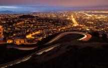 Vista noturna de Twin Peaks