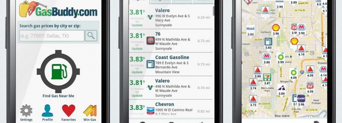 Aplicativo GasBuddy para Android