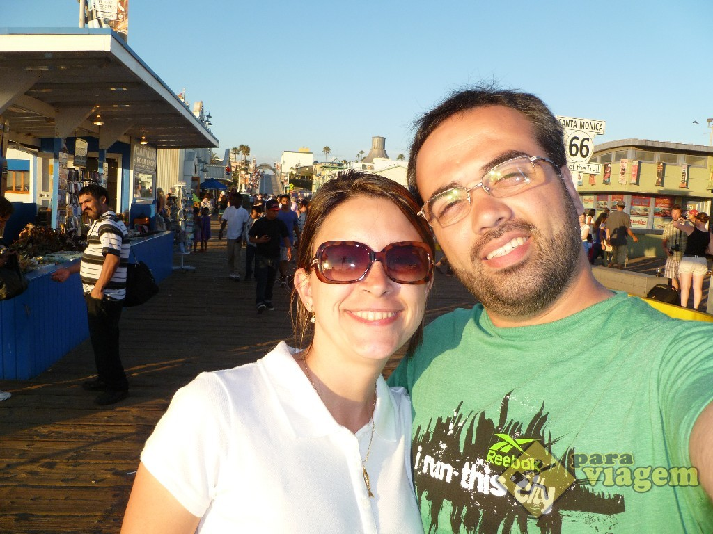 Visitando o Pier Santa Monica
