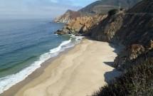 Praia Deserta na Highway 1