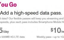 Pacotes de Dados no Plano Pay As You Go da T-Mobile