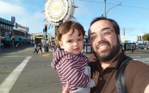 Com meu Filho no Fisherman's Wharf