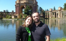 Com a Esposa no Palace of Fine Arts