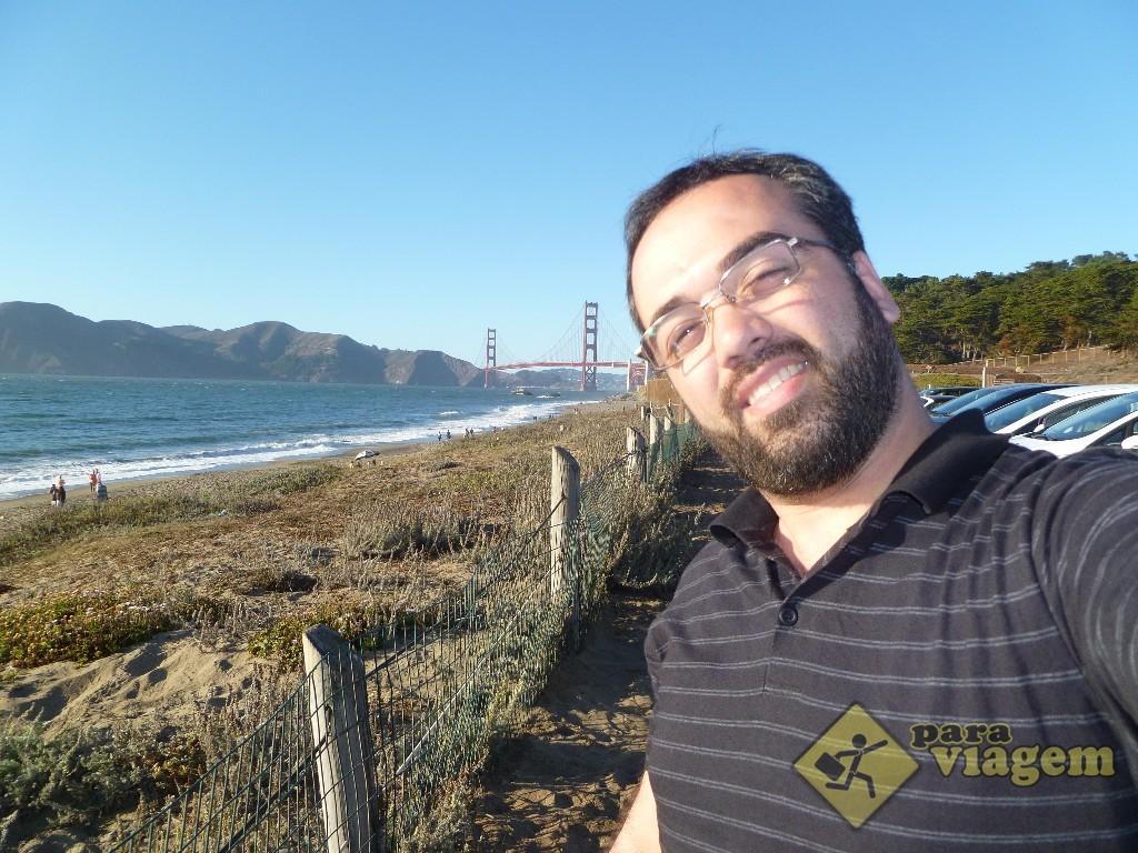 Vendo a Golden Gate de Baker Beach