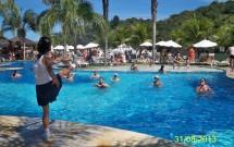 Recreação na piscina