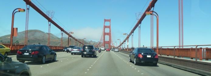 Dirigindo pela Ponte Golden Gate