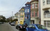 Casinhas Coloridas Entre a Haight e a Page Street