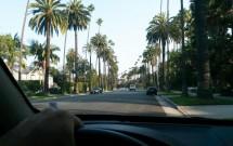 Dirigindo por Beverly Hills em LA