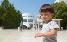 Meu Filho Brincando no Getty Center