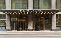 Letreiro antigo do Hotel Milford em Nova York