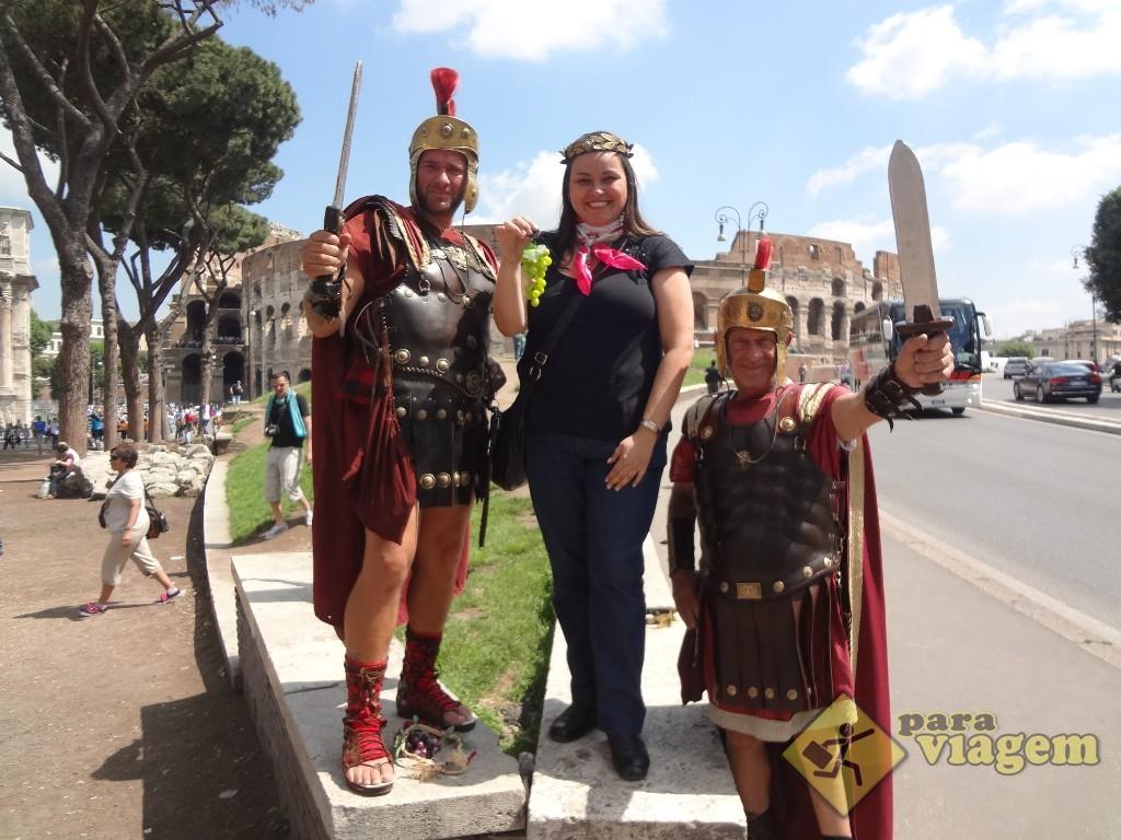 Foto tradicional com gladiadores