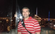 Top of the Rock: detalhe do flash no vidro