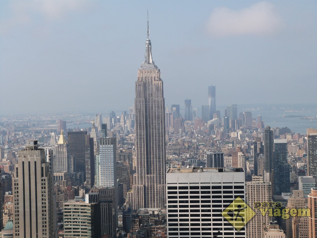 Empire State no detalhe: vista do Top of the Rock