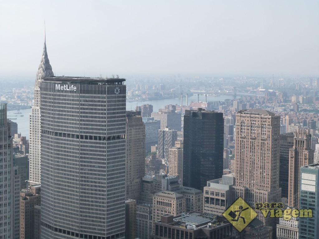 Chrysler Building escondido atrás do prédio da MetLife: vista do Top of the Rock