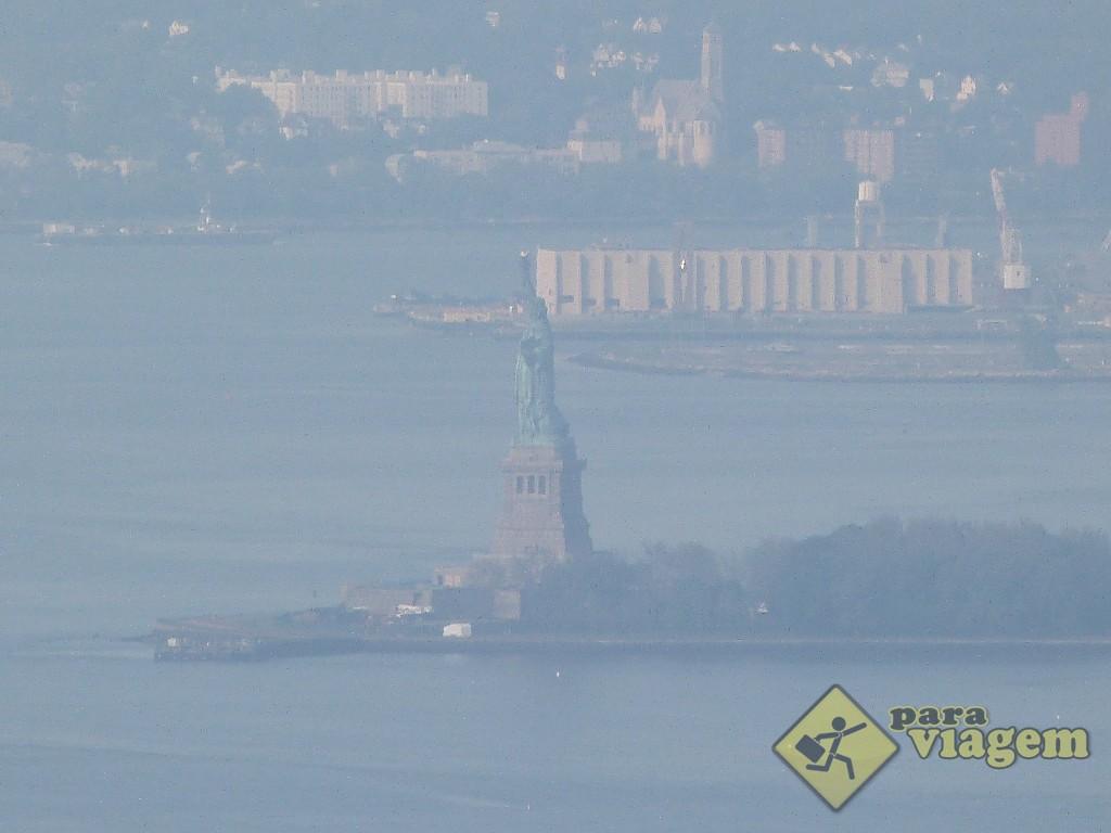 Estátua da Liberdade: vista do Top of the Rock
