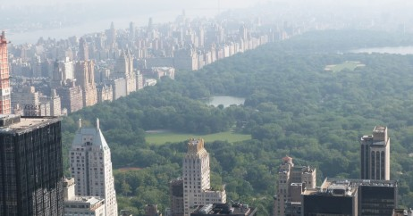 Central Park e Hudson River: vista do Top of the Rock