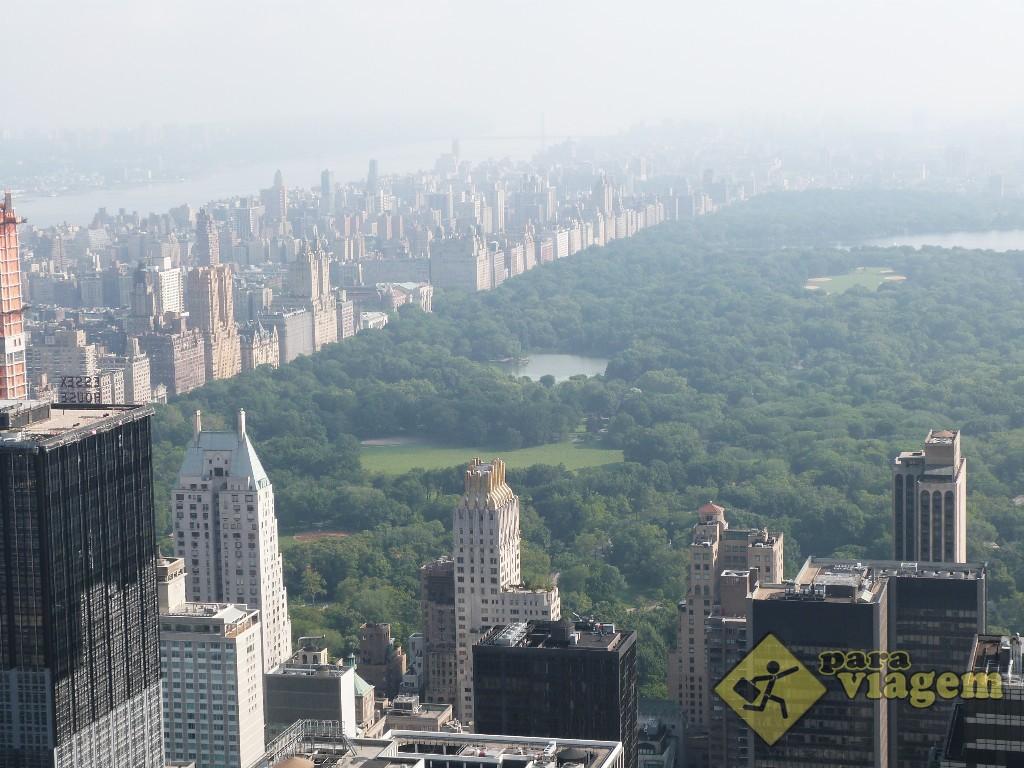 Central Park e Hudson River: vista do Top of the Rock