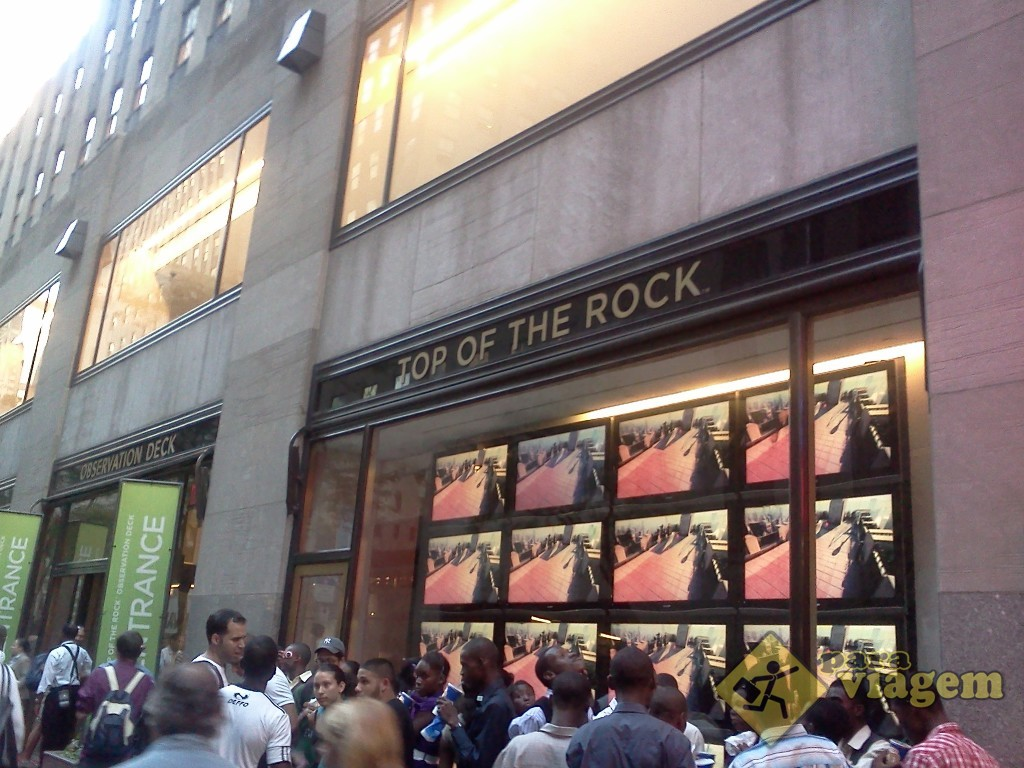 Entrada do Top of the Rock