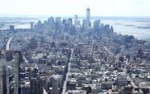 Sul da ilha: detalhe do WTC ao fundo. Vista do Empire State