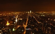 Sul da ilha à noite: vista do Empire State