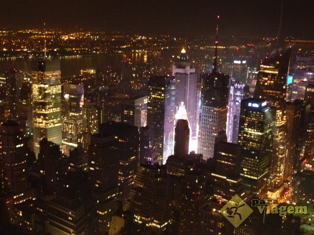 Luzes da Times Square: vista do Empire State