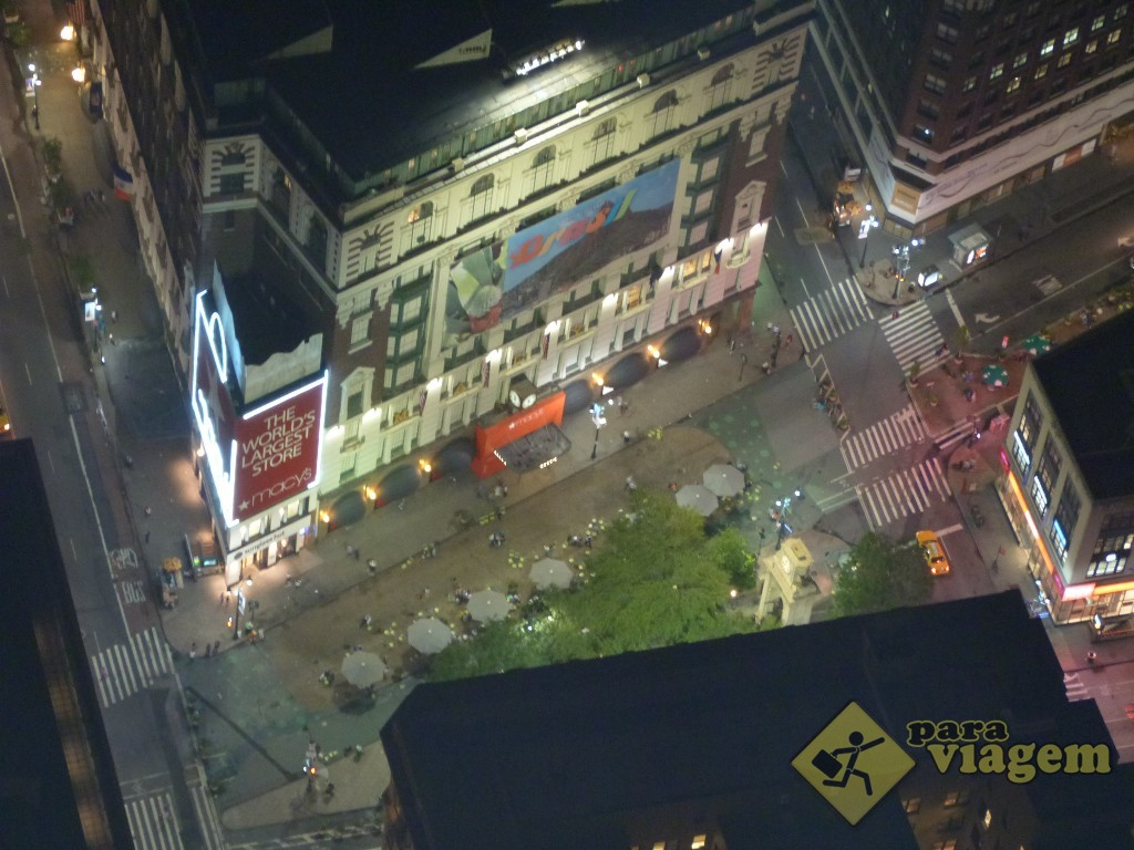 Macy´s e Broadway: vista do Empire State