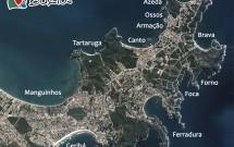 Mapa das Principais Praias de Búzios