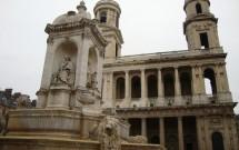 Igreja de St-Sulpice e a fonte da praça