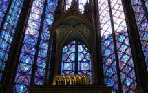 Parte dos vitrais de St-Chapelle