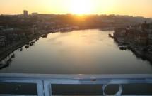 O belo pôr-do-sol