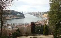 Vista da foz do Rio Douro e a P. Arrábida