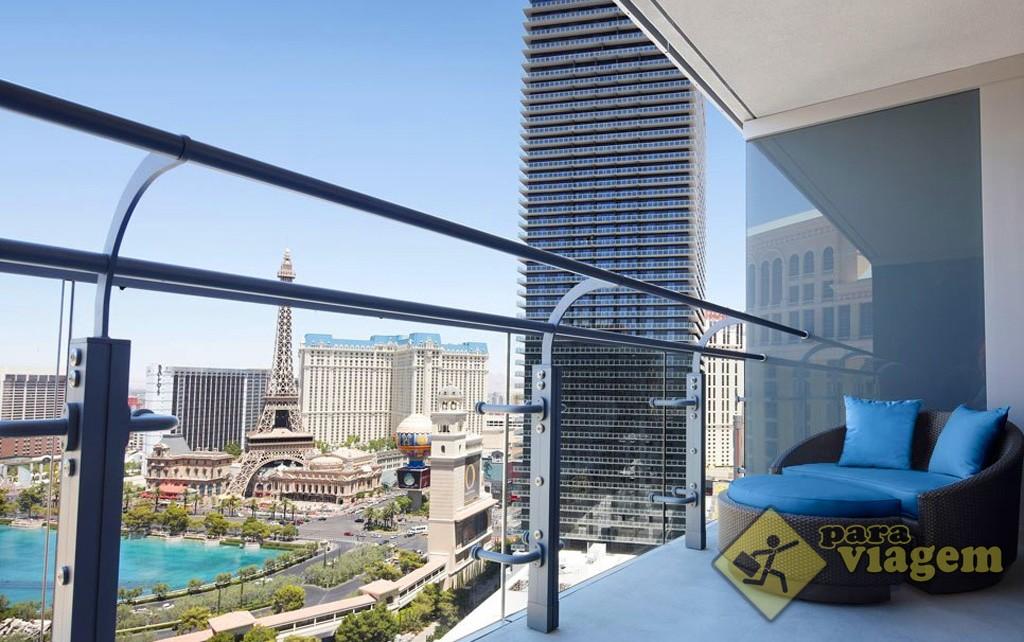 Vista da Strip do Quarto do Hotel Cosmopolitan