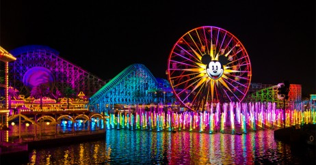 Roda Gigante Iluminada no Disney California Adventure