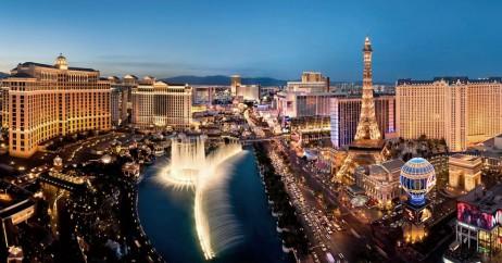 Vista da Strip em Las Vegas