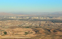 Cidade de Las Vegas no Meio do Deserto